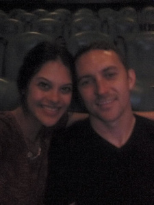 Blurry...but our last date night at Jurassic World
